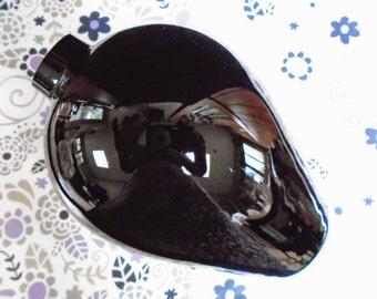 """Black Amethyst Vase, 6.75"""" Tall, Vintage"""