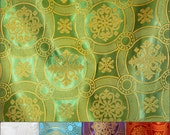 """Vestment Brocade Rayon Material, width is 2 meters (79')  """"Circles"""" pattern, many colors, sold by meter"""