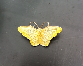 Vintage Brass butterfly brooch antique retro 1950s