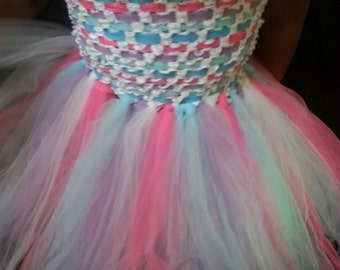 Woven Top Tutu Dress