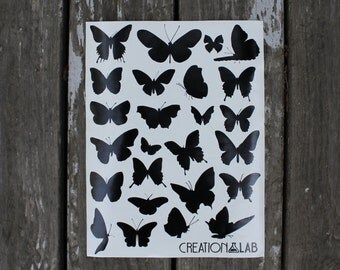 Butterfly Silhouette Vinyl Decals Pack