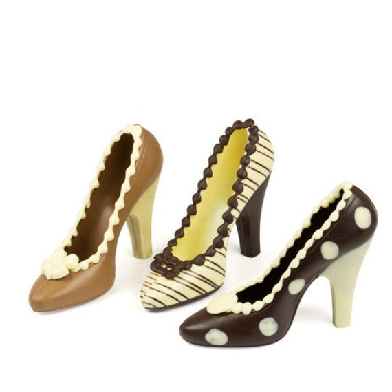 Chocolate gift Unique set of 3 hight heels made of delicious chocolate Sweet gift for elegant woman Funny gift idea