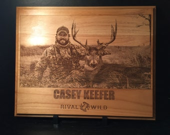 Personalized Laser Engraved Hunting Photo onto Plaque *Hunting Pictures*