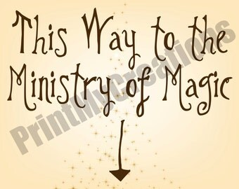 Harry Potter  -  This Way to the Ministry of Magic Sign - DIY
