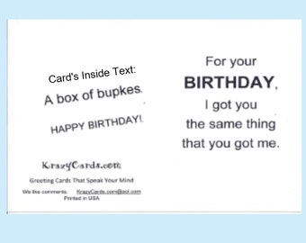 Birthday CARD JEWISH Humor YIDDISH Humor funny cute non-traditional