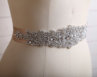 Bridal Belt, Wedding Belt, Bridal Sash Belt, Wedding Sash Belt, Wedding Dress Sash, Crystal Bridal Sash Belt, Rhinestone Bridal Belt/ B128