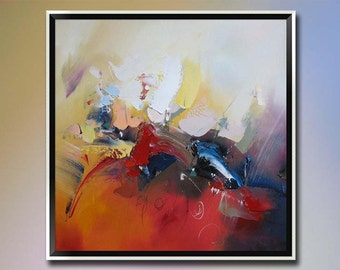 Original oil painting-Impression of sky-Hand painted abstract paintings