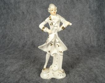 Vintage Porcelain Violin Player