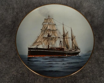 The Firgorifique by A. D'Estrehan Legendary Ships of the Seas Collection Plate...with certificate of authenticity