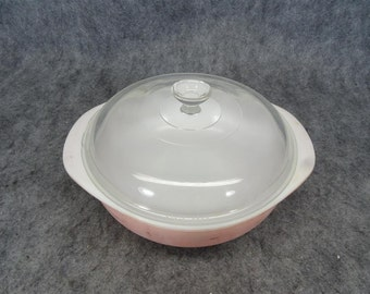 Vintage Pyrex 12 Casserole Dish with 1 1/2 Qt. Capacity and Glass Lid
