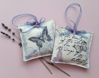 Lavender Sachets – Butterfly Sachets – Set of Two