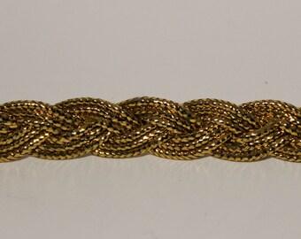 Gold or Silver Braided Trim Rope- 2 yards, 5 yards, 15 yards