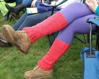 Knitting Pattern/DIY Instructions -  Retro 80's Festival Legwarmers - PDF Instant Download