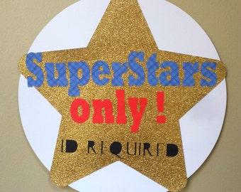 Superstar Theme Welcome Door Sign