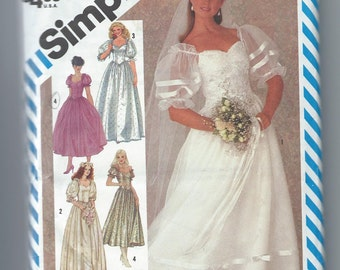 Simplicity 6241  Bride or Bridesmaids' Dress in Two Lengths