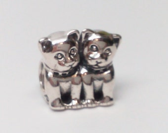 New Authentic Pandora Sterling Silver 925 ale Purrfect Together Bead 791119