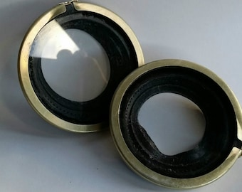NBC Soviet Russian  Respirator Gas Mask Outserts Lense  for GP-5/GP-7, 2 pcs