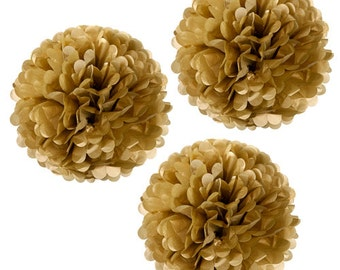 Gold Tissue Pom Pom