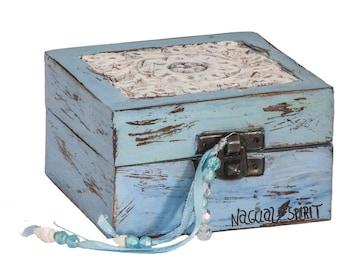 Boho Jewellery Box by Nagual-Spirit, hand painted