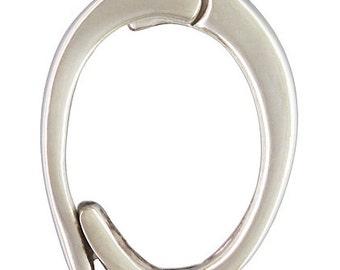 Sterling Silver Medium Pearl Enhancer - 11.5x8mm
