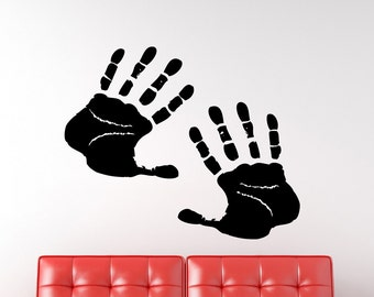 Hand Prints Vinyl Wall Decal Graphic