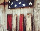 Pallet Flag - Gift for Veteran - American Flag - Military Gift - Wood Flag - Patriotic Decor - Gift for Soldier - Reclaimed Wood - US Navy