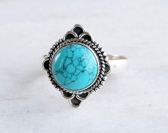Turquoise ring, sterling silver Turquoise rings, Sterling Silver Ring, silver ring, Turquoise ring, 925 sterling silver ring Size  5 6 7 8