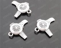 20pcs 23x20mm antique silver hair dryer pendants charms M29634