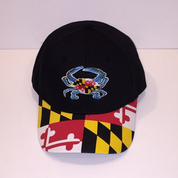 Maryland Flag Hat With md Blue