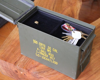 Ammo Can Jewelry Box, Gift for Men, Storage Box, Watch Box