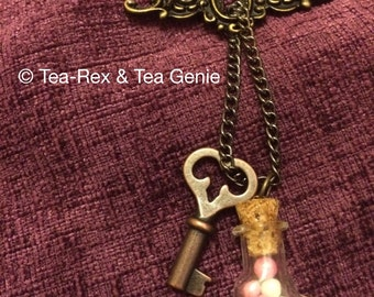 Lock, Tea and Key! Pink and White version