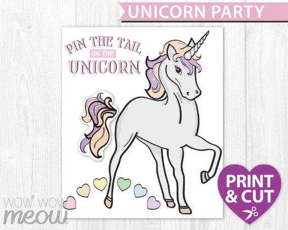 It's just a picture of Impertinent Pin the Tail on the Unicorn Printable