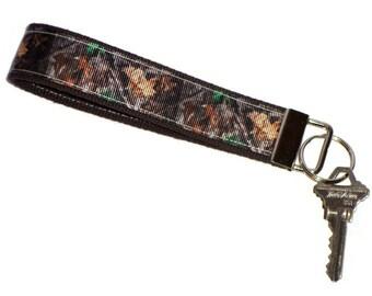 """5"""" camo key fob wristlet, keychain, camouflage key fob, camo wristlet, hunting keychain, camo keychain!"""