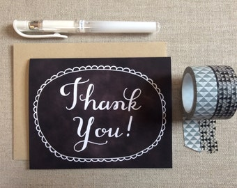 Chalkboard Thank You with Scallops Card