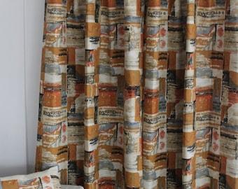 Filkauf Linen Mid Century Era Drapery Panels Made-to-order