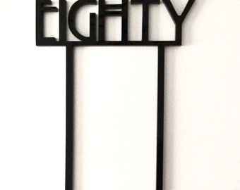 Birthday Number, Cake Topper, Laser Cut, Acrylic, Personalized, Custom