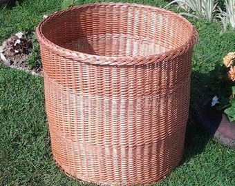 "23 "" Large Hamper Basket, Wicker Hamper, Towel Hamper Basket, Wicker Storage Basket, Large Storage Basket, Wicker Laundry Basket"
