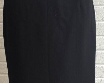Vintage 1980's Black Skirt. UK size 8