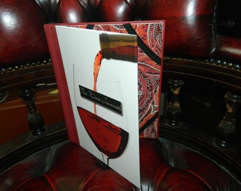 Handmade/Upcycled Wine Journel Book Tablet/iPad Case
