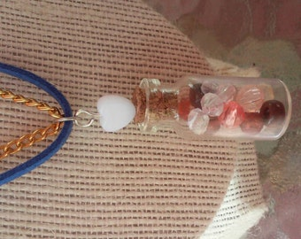 Sweetheart cute adorable sage vial charm necklace