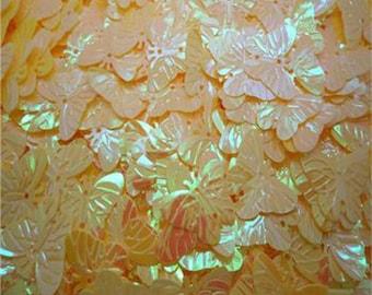 60 20mm Butterfly Sequins - Iridescent Yellow