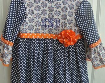Gameday or Fall Peasant dress