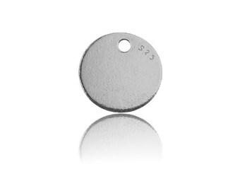 Round Charm Silver 925
