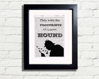 Sherlock Holmes Hound Quotation Wall Hanging, Art Print INSTANT DIGITAL DOWNLOAD A4 Pdf Jpeg Printable Artwork Image Gift Idea Wall Hanging