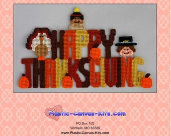 Happy Thanksgiving Sign-Plastic Canvas Pattern-PDF Download