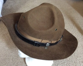 VTG WWII 1944 Military Hat Service Field PQMD-277-H-4321 control.No.3889RS-1944