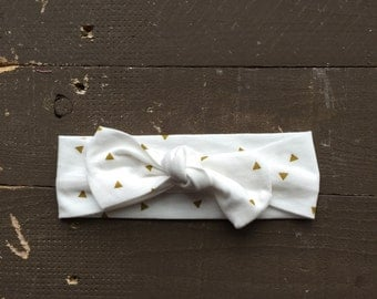 Gold diamond knotted headband