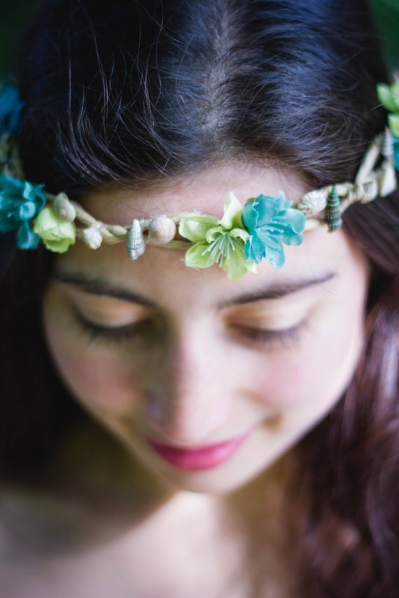 OOAC Seashell Beach Fairy Elven Crown Headdress