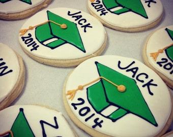Graduation sugar cookies - one dozen graduation party high school graduation college graduation party
