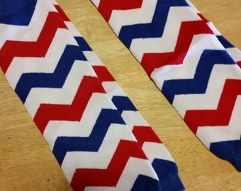 Red, White and Blue Chevron Baby Legs